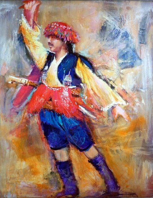 Mustafa Ali Kasap - Türkish Artist Painter  Mixed media on canvas Tuval üzeri karışık teknik
