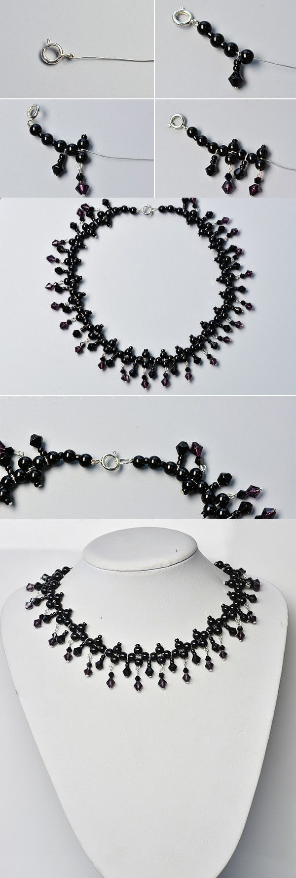 Like the black glass beads necklace?The tutorial will be published by LC.Pandahall.com soon.