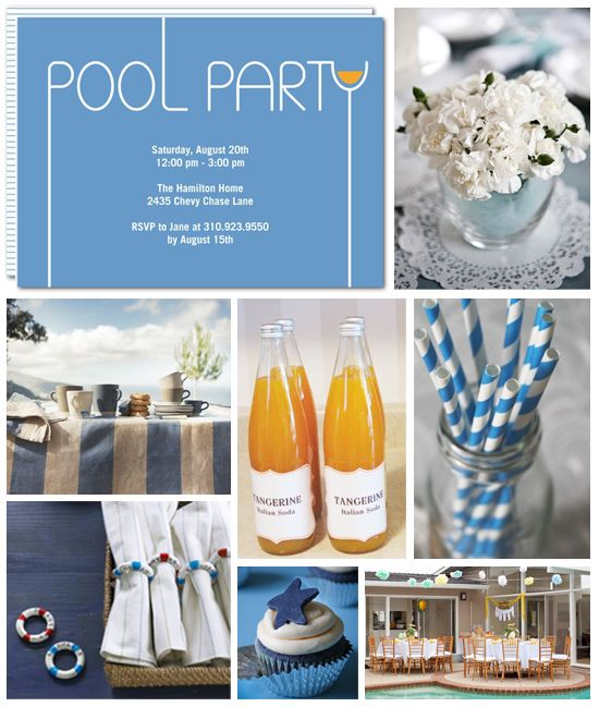 Posh Pool Party ~   #Pool, #Outdoor, #Party