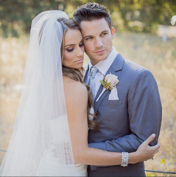 Pin for Later: #IDo: The Best Social Celebrity Wedding Pictures  Matt Lanter's new wife, Angela Lanter, shared this sweet photo from their nuptials. Source: Instagram user angelalanter