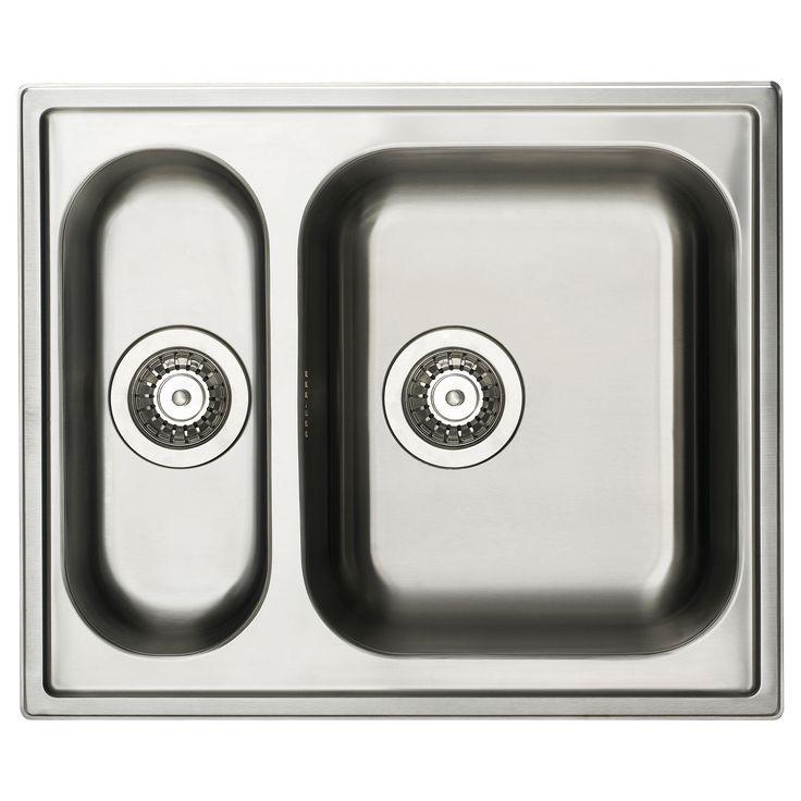 BOHOLMEN Inset sink 1 1/2 bowl - IKEA