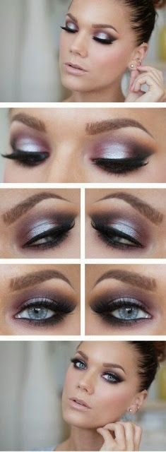LOVE this one - the drama and the shimmer and the PURPLE! would accent my green eyes and still be dramatic