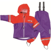 High Visibility Rain Set - Purple/Red
