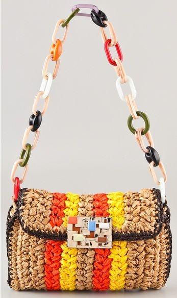 M missoni crochet shoulder bag