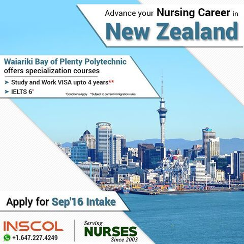 Great Opportunity for #Nurses who wish to 'Study, Work and Live' in #NewZealand.