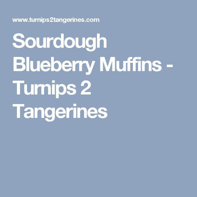 Sourdough Blueberry Muffins - Turnips 2 Tangerines