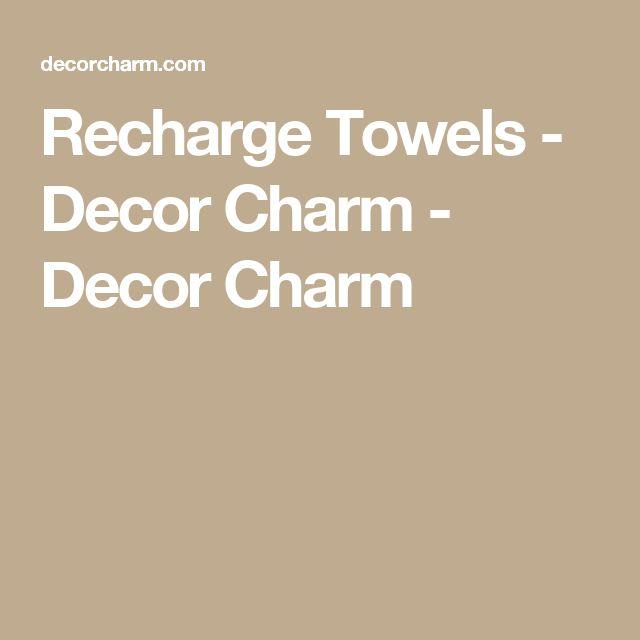 Recharge Towels - Decor Charm - Decor Charm