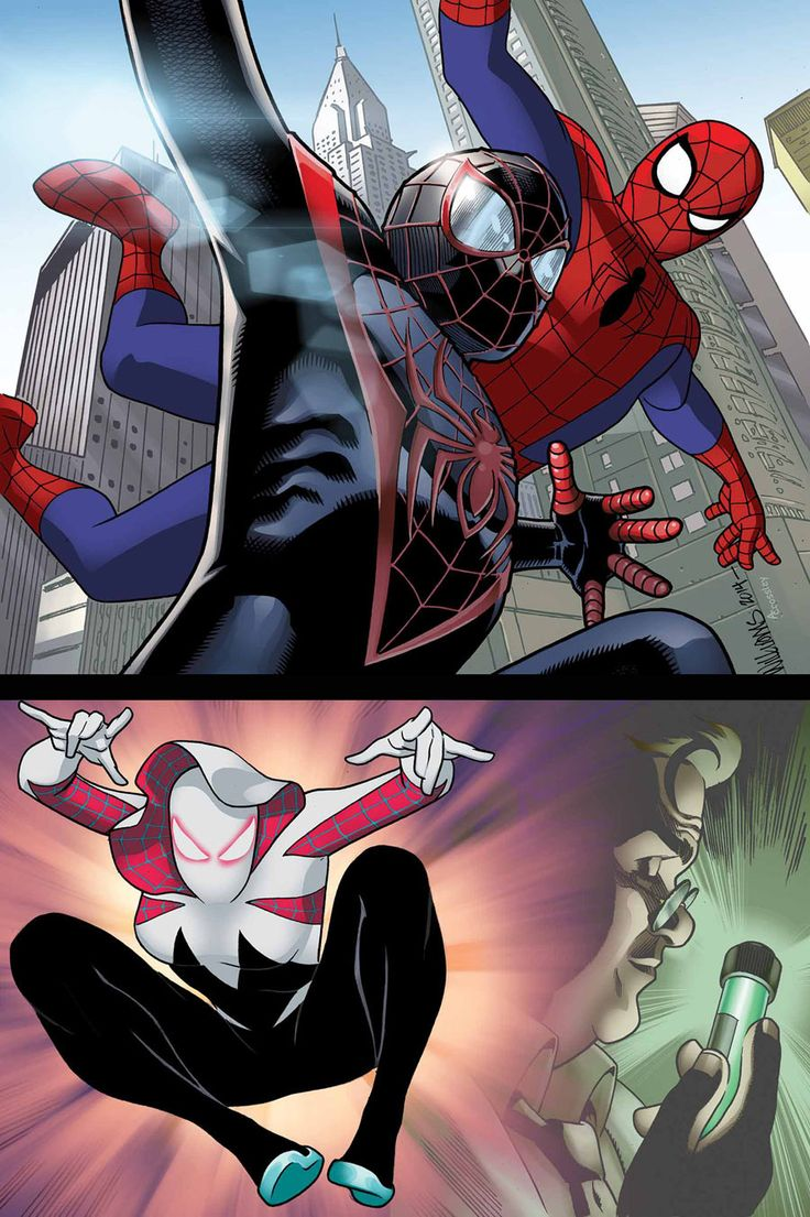 SPIDER-VERSE TEAM-UP #2 (of 3) CHRISTOS GAGE & GERRY CONWAY (W) DAVE WILLIAMS & PAUL SMITH (A) Cover by DAVE WILLIAMS
