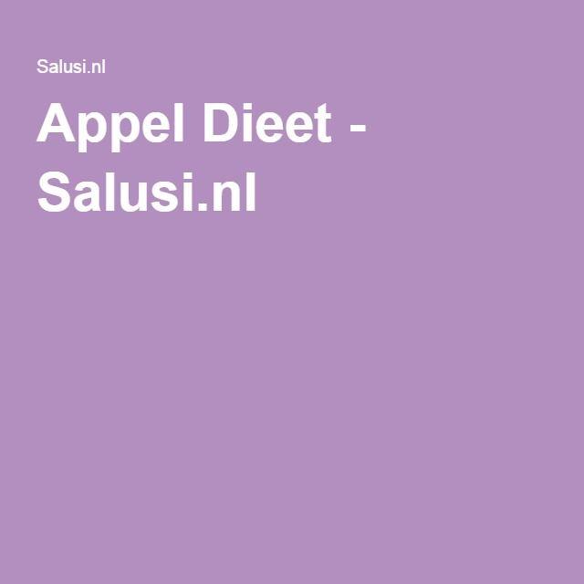 Appel Dieet - Salusi.nl