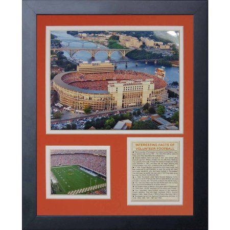 Legends Never Die University of Tennessee Neyland Stadium Framed Photo Collage, 11 inch x 14 inch