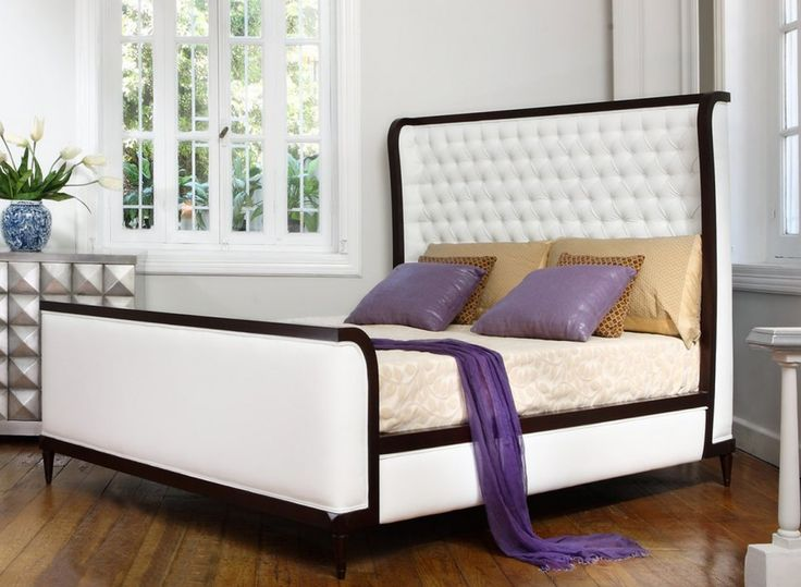 Leather Upholstered Bed With Timber Frame