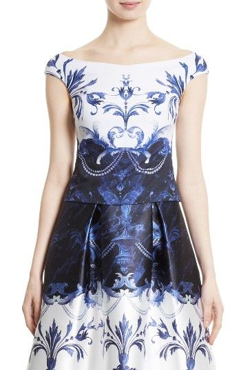 Free shipping and returns on Ted Baker London Molliee Top at Nordstrom.com. Pre-order this style today! Add to Shopping Bag to view approximate ship date. You'll be charged only when your item ships.Inky blue Baroque flourishes circle the bodice of a lustrous shell with graceful cap sleeves and a ballerina neckline.