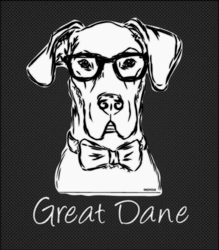 #Great_Dane #Dog #vector #Print