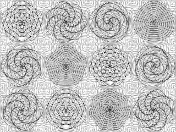 Squares with Concentric Rings 2
