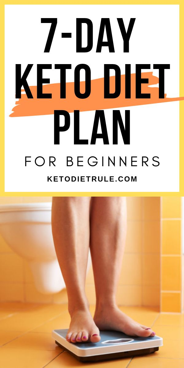 Keto Diet Plan: A 7-day low-carb keto diet plan for beginners. Recipes and menu included.   #ket…