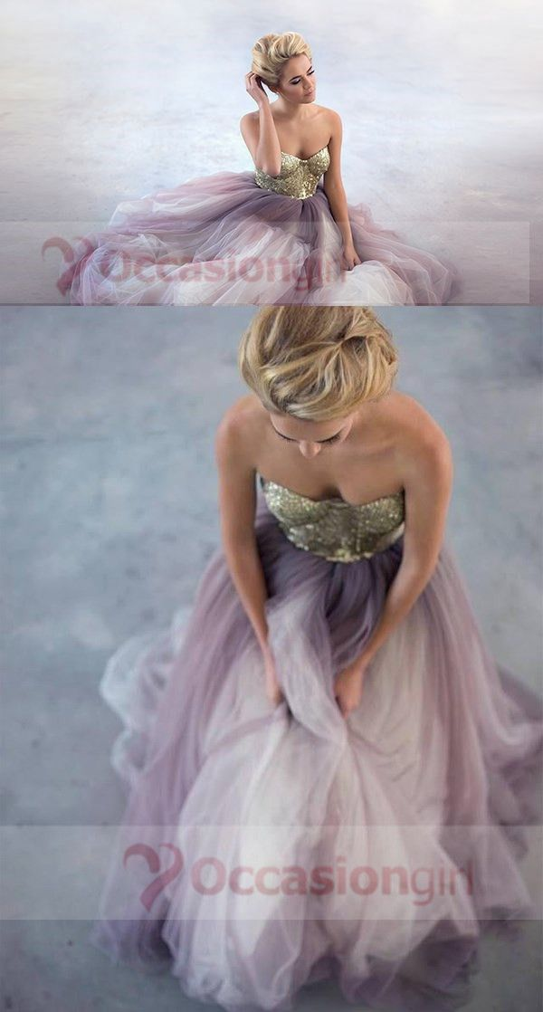 2016 prom dresses, gold sequined prom dresses, princess long prom dresses, ball gown