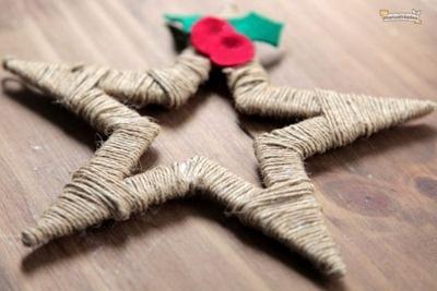 Estrellas para Navidad con hilo rústico