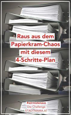 Papierkram Ausmisten erfordert vor allem eines: Konsequenz! Mit diesen vier Tipps schafft ihr erstmal Ordnung und sortiert eure Dokumente regelmäßig.