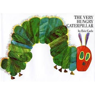 This is one hungry caterpillar! This hardcover edition is beautifully written and boldly illustrated by Eric Carle. The very hungry caterpillar hatches and eats eats his way through a variety of foods