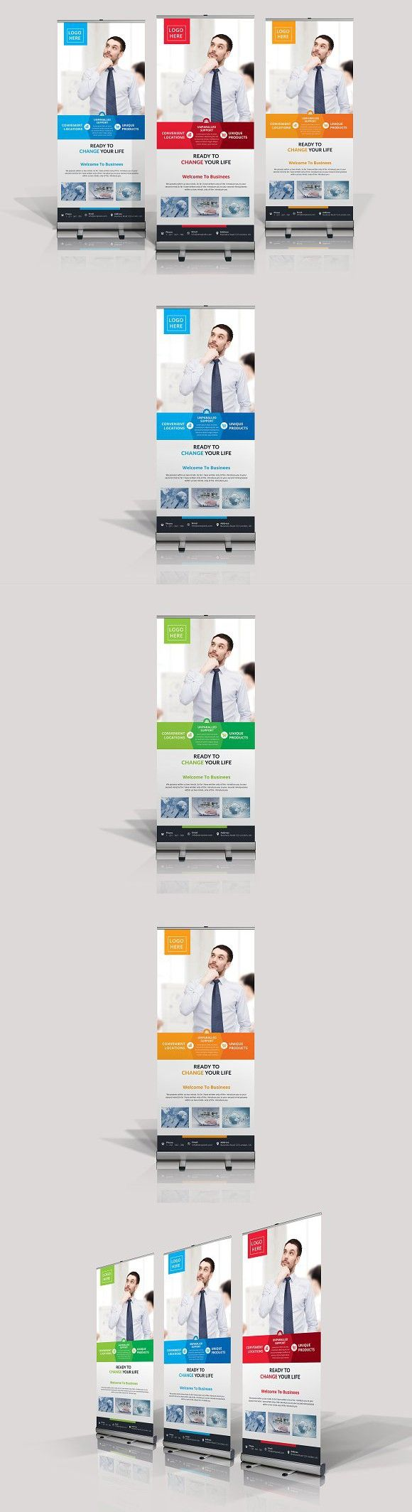 Business Rollup Banner. Stationery Templates