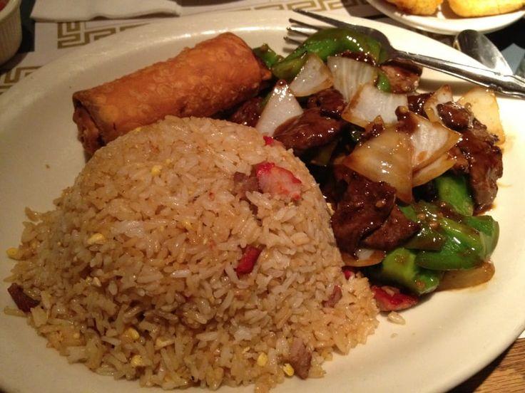 pepper steak with pork fried rice | ... , NY, United States. Pork Fried Rice, Pepper Steak & Egg Roll dish
