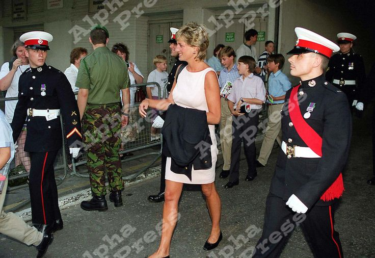 26 july 95 Princess Diana with Prince Wiliam and Harry/ Henry at the Royal Tournament in Earls court