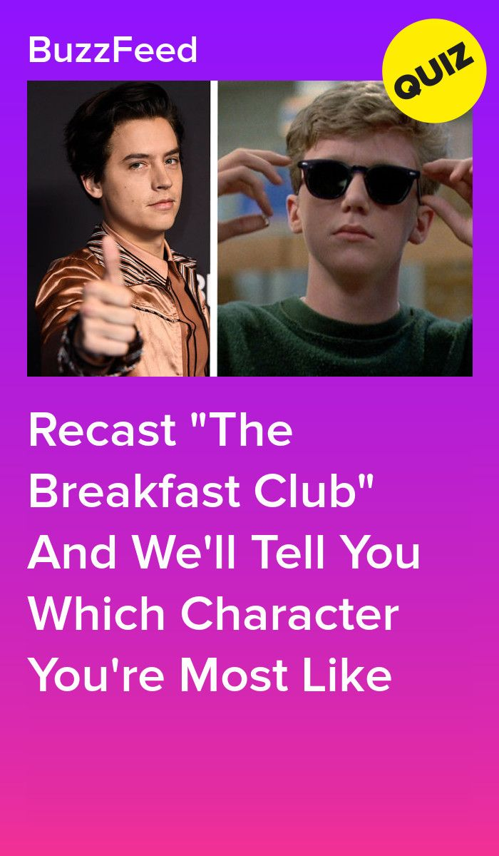 Direct A Remake Of The Breakfast Club And We Ll Reveal Which Character You Re Most Like Movie Quiz The Breakfast Club Movie Quotes Funny