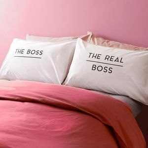 The Boss And Real Boss Pillowcases - This Valentine's Day we've all kinds of heartfelt finds, from the UK's best small creative businesses.