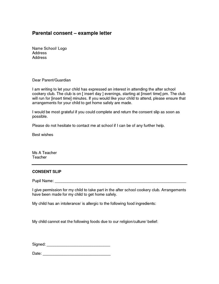 10 best Authorization Letters images – Parents Consent Letter for Work