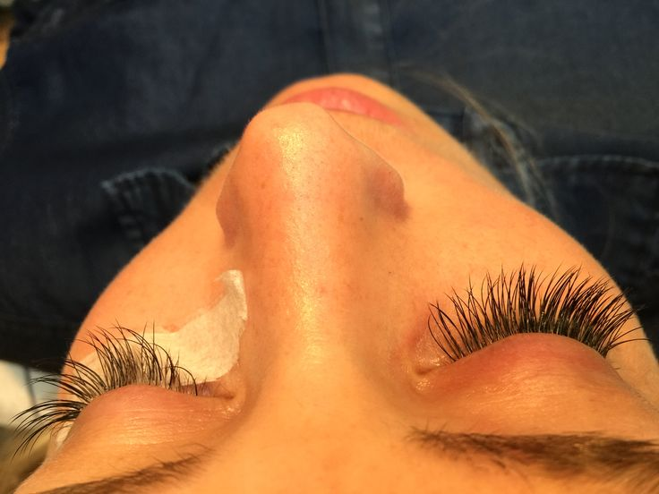 4 weeks and today lashes C-0,15 12 mm