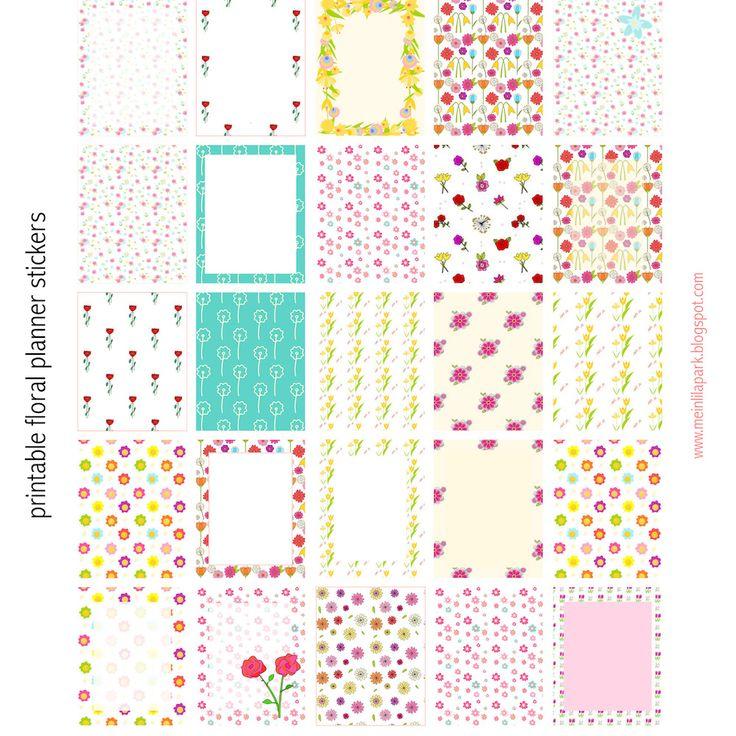 Free printable floral planner stickers - ausdruckbare Sticker - freebie | MeinLilaPark – DIY printables and downloads