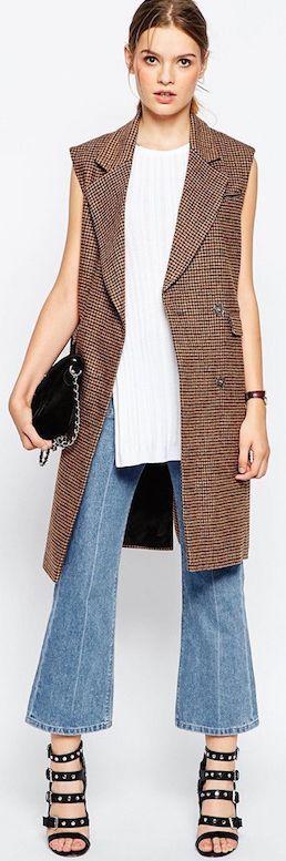 Le Fashion Classic Sleeveless Coat Fall Street Style Inspo #Fashionistas