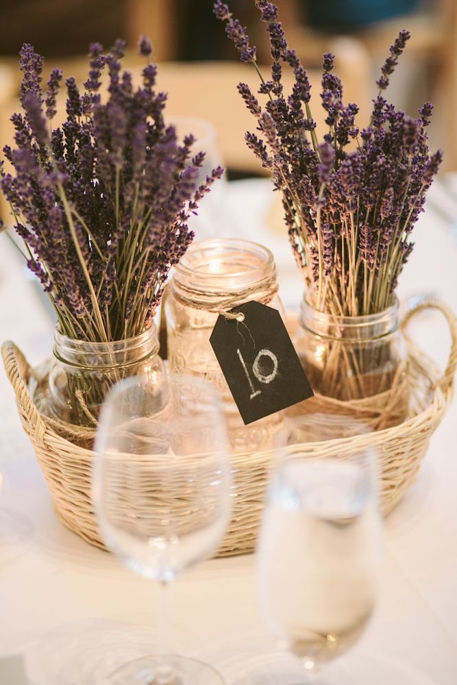 Lavender Centerpiece -- A French Country Inspired Wedding in Toronto, Ontario | Weddingbells