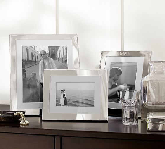 Silver-Plated Engravable Frames