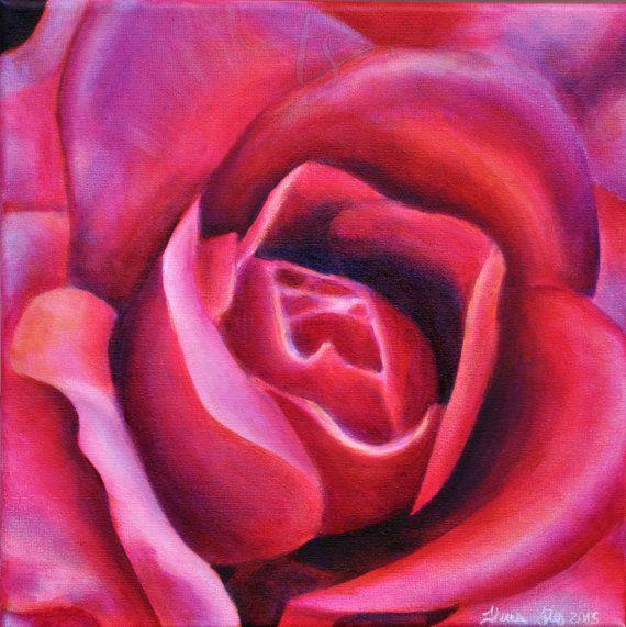 lámina  poster grande de pintura al óleo originales  flor