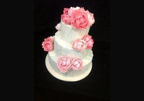 Peony Roses #Wedding #Cake
