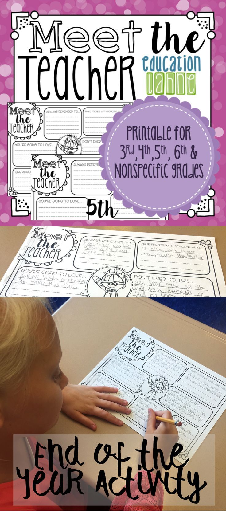 Reminisce, laugh a little, and wrap up the year with this end of year activity! It can also be used for back to school, see how here!