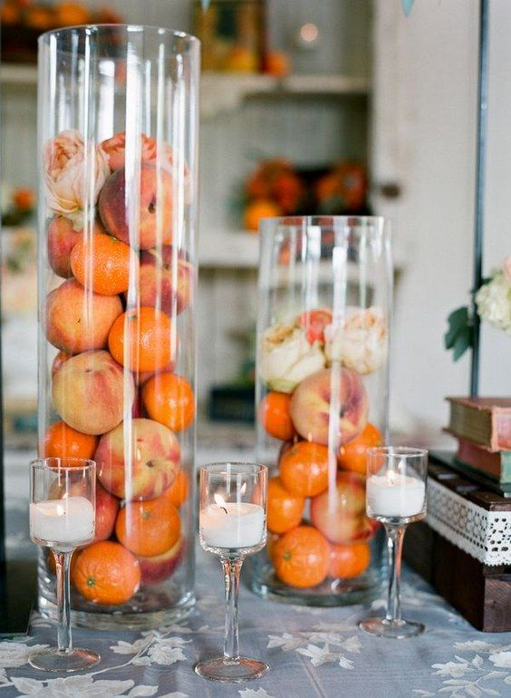 8 best peach weddings images on pinterest blush gold weddings 40 fabulous fruit decoration idea for wedding day junglespirit Gallery