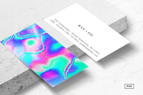 Holographic Business Card Template Kartenvorlage Visitenkarten Design Karten Design