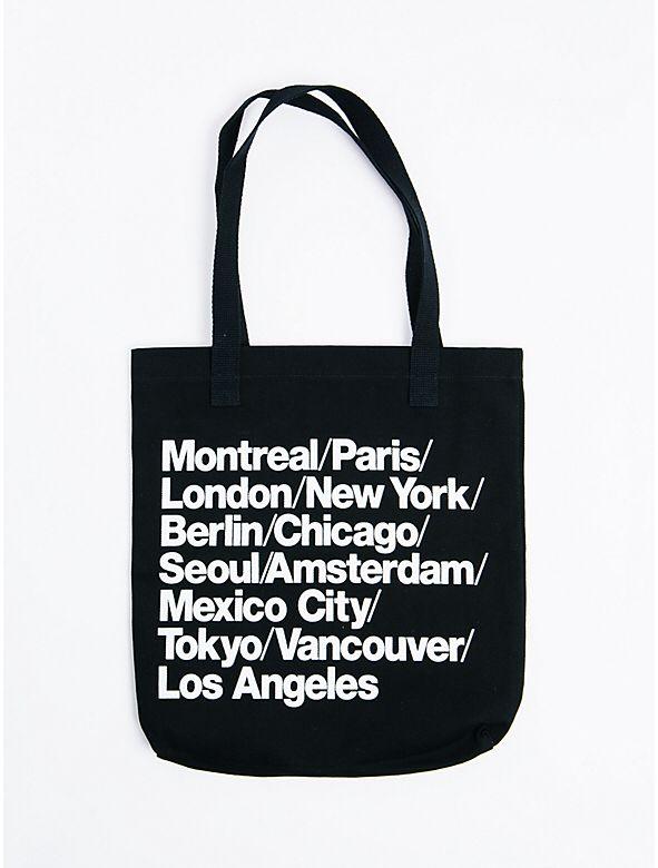 Statement Denim Tote Bag from American Apparel $24,00