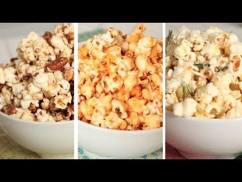 Flavoured Popcorn - 3 Delicious Ways - YouTube
