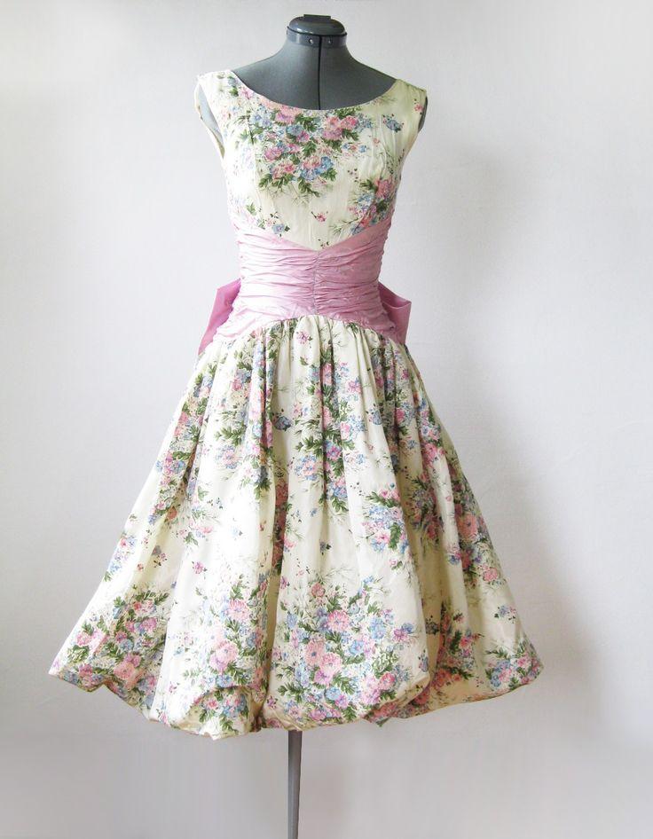 vintage 50's spring garden party dress.