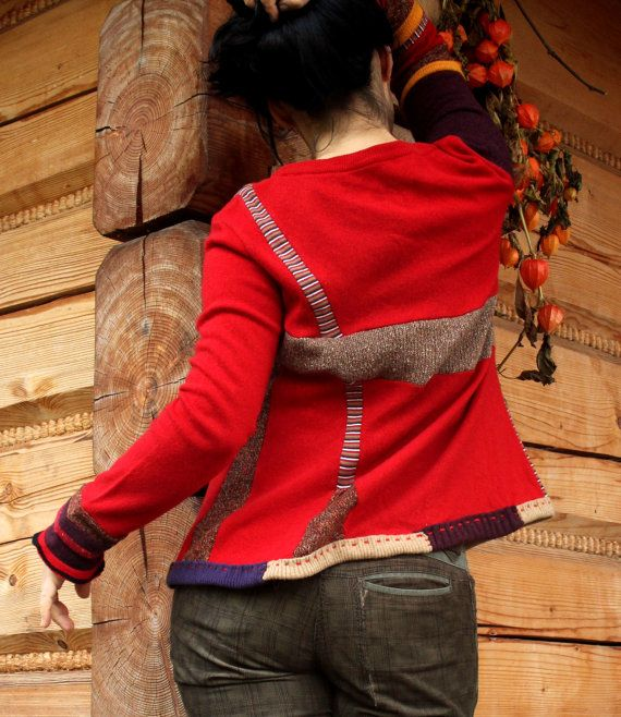 Recycled patchwork sweater