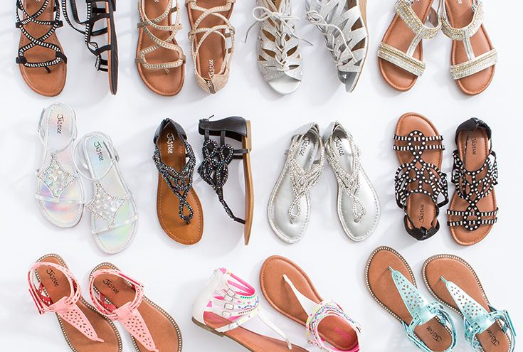 Add a little spring to your step with lace-up, stud & metallic sandals | Justice