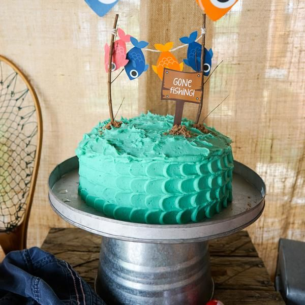 1000 ideas about gone fishing cake on pinterest fishing for Fishing birthday party ideas