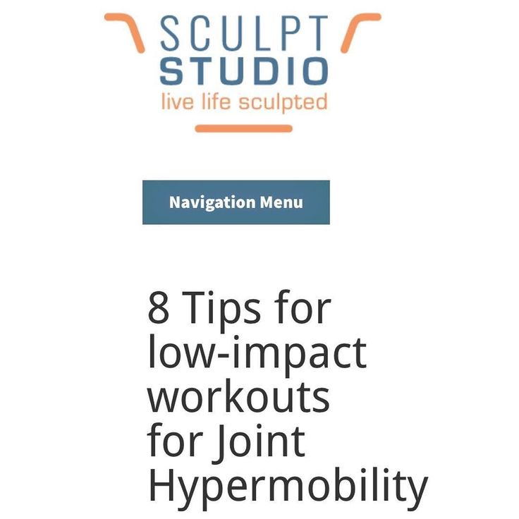 8 Tips for low-impact workouts for Joint Hypermobility - Link to the article I recently wrote for one of my favorite studios - @sculptstudio (link in bio also): http://ift.tt/2hEaWCk