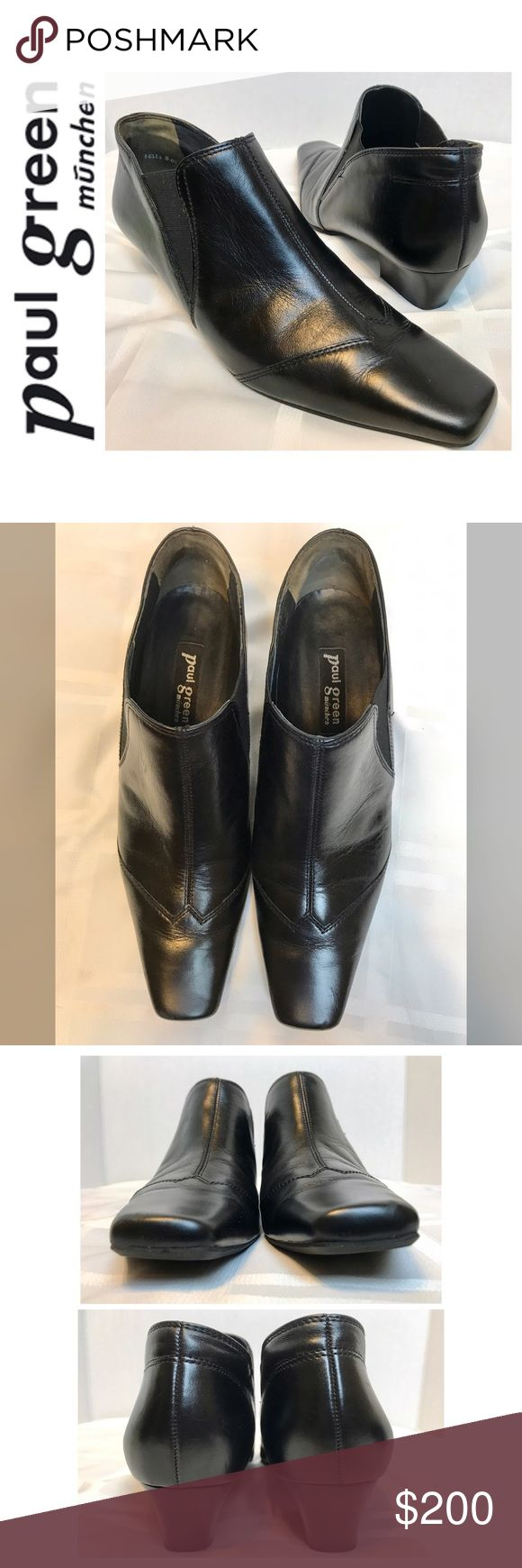 Paul Green Signature Leather Heels Paul Green Signature Leather Heels in Classic Black, Handmade in Austria, Size 5 Tag but Fits a Size 7 1/2, Used in Excellent Mint Condition Paul Green Shoes Heels