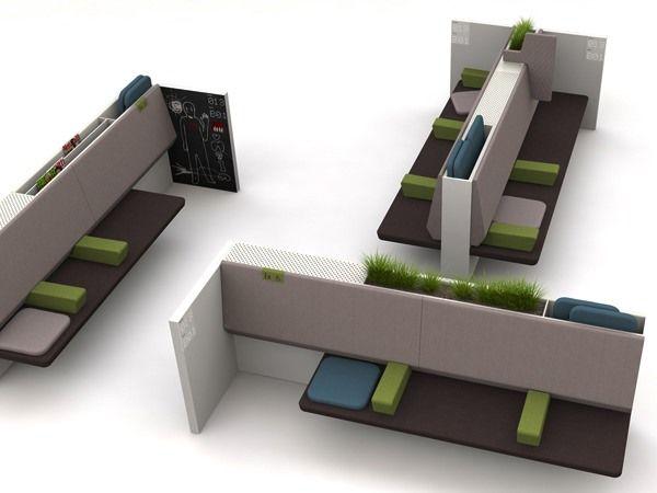 Mueble de sala de espera, clínica. por Estudi d'Arquitectura Interior Maite Prats.