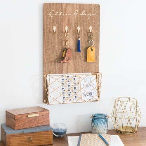Brett für Schlüssel + Briefe 28 x 47 cm PORTO