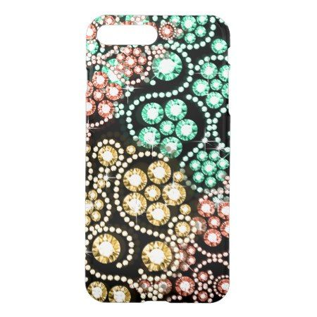 Colorful Diamond and Pearl Bling  Design iPhone 7 Plus Case - tap, personalize, buy right now!